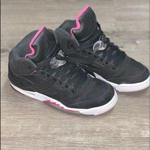 Air Jordan 5 black deadly pink